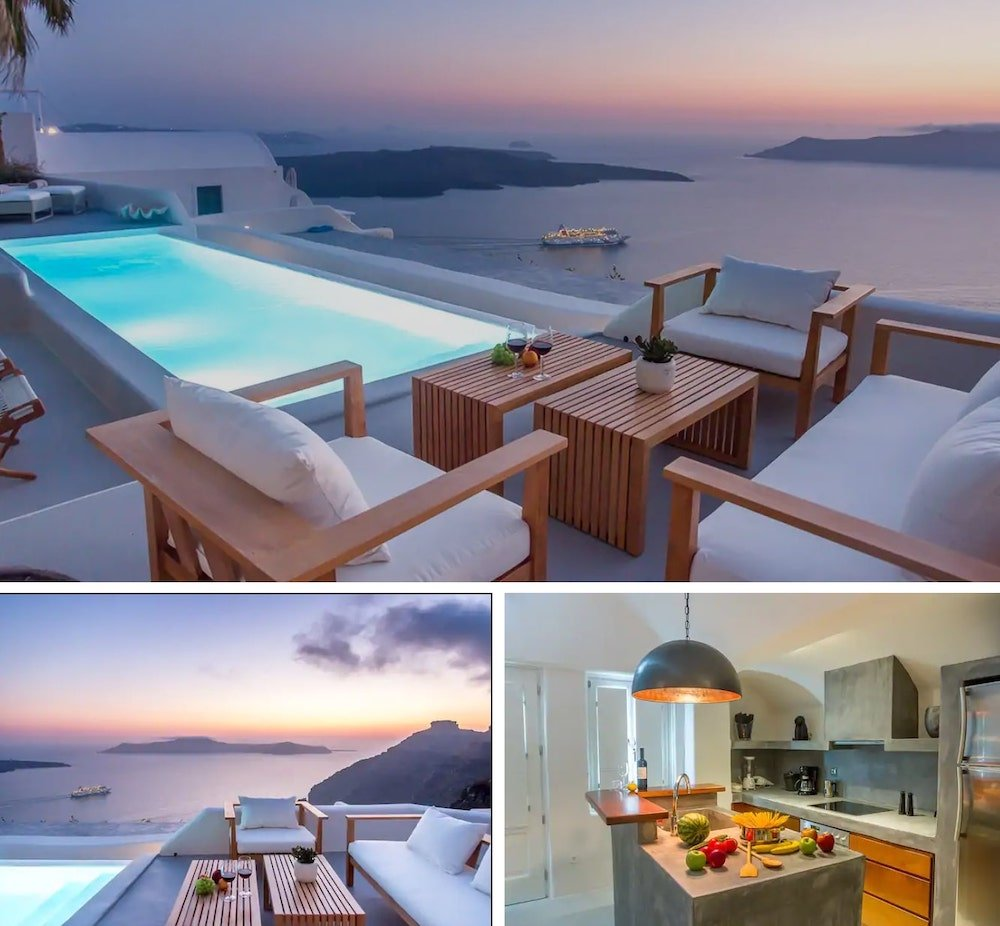 luxury villa in Santorini