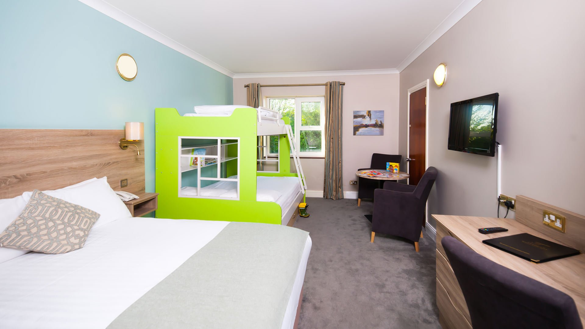 Family bunk rooms in Treacys Hotel - one of the hotels in Clare that has large family rooms.