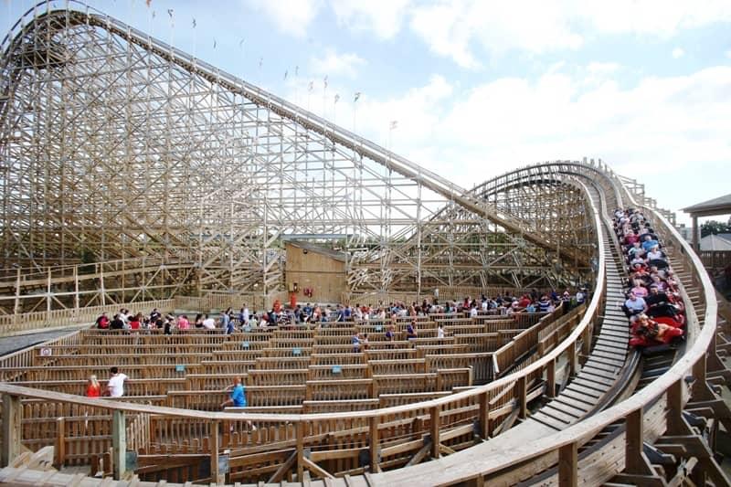 Tayto Park rollercoaster close to Dublin