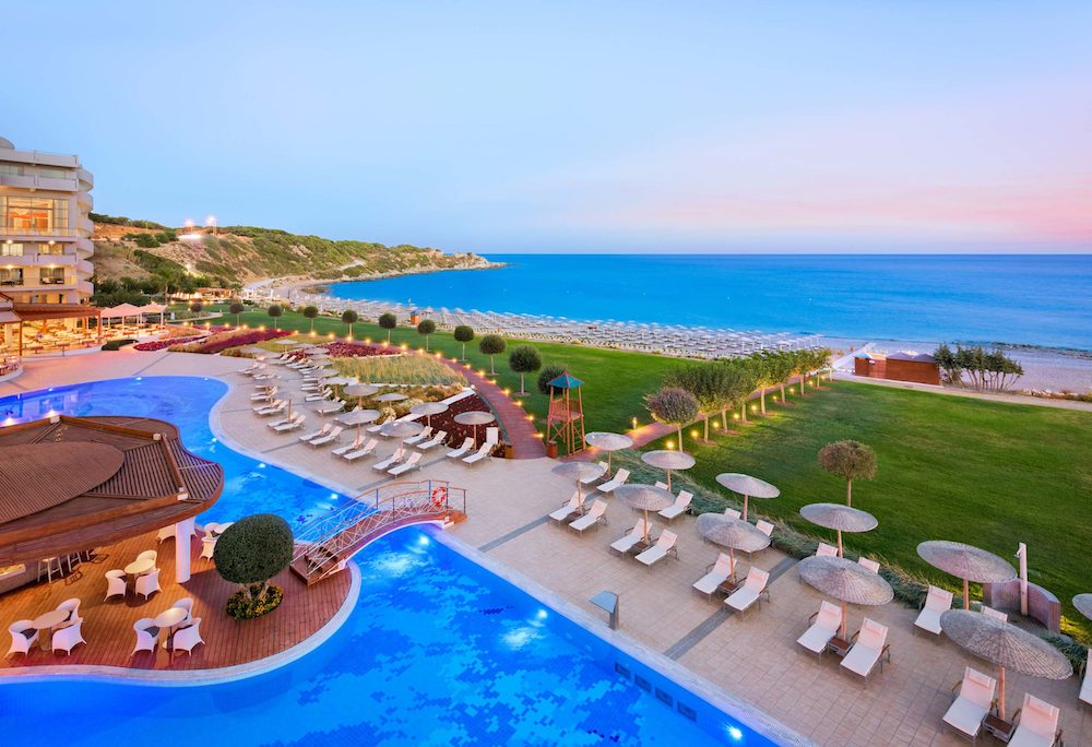five-star resort for couples in Rhodes.