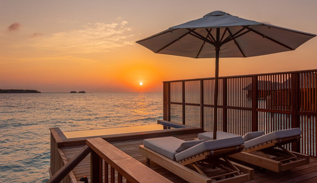 Conrad Rengali, Maldives at sunset.