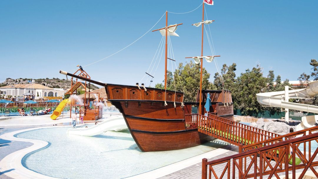 Holiday Village in Rhodes is one of the best all inclusive resorts for families in Rhodes.