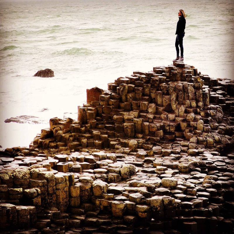 The Travel Expert at the Giants Causeway.
