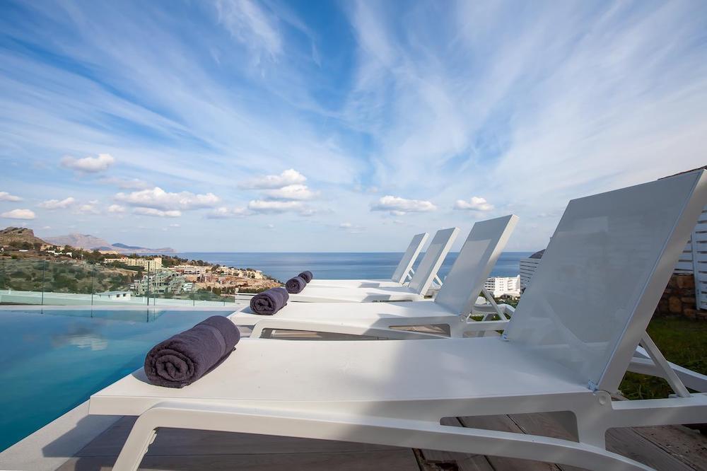 modern villa to rent in Lindos, Rhodes.