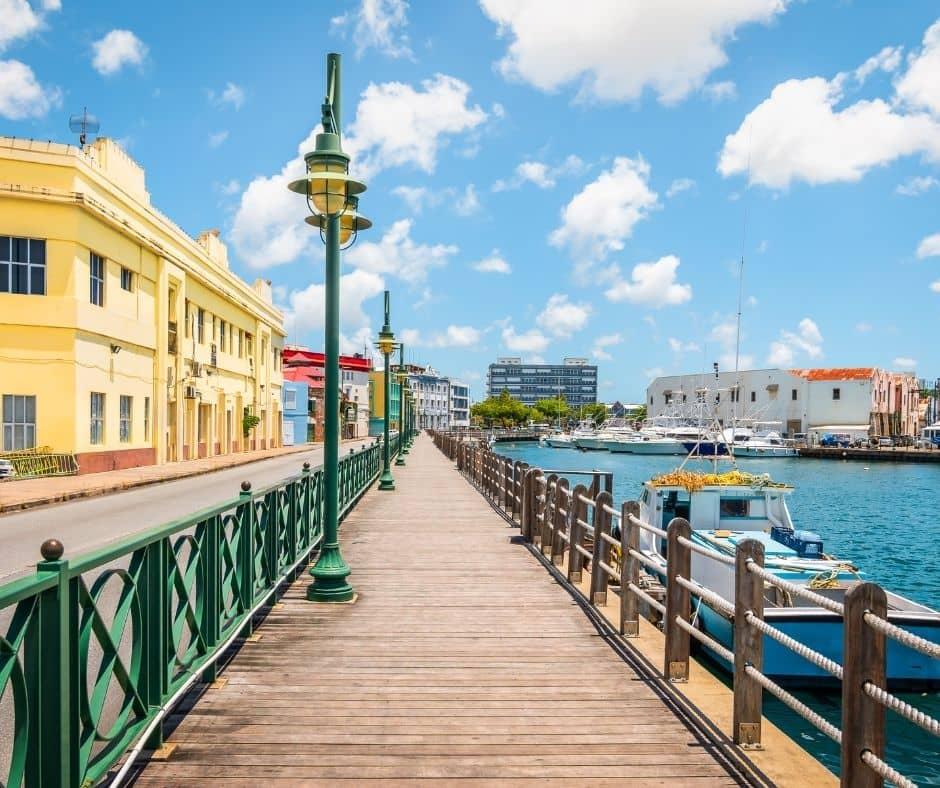 Colourful town of Bridgetown, Barbados