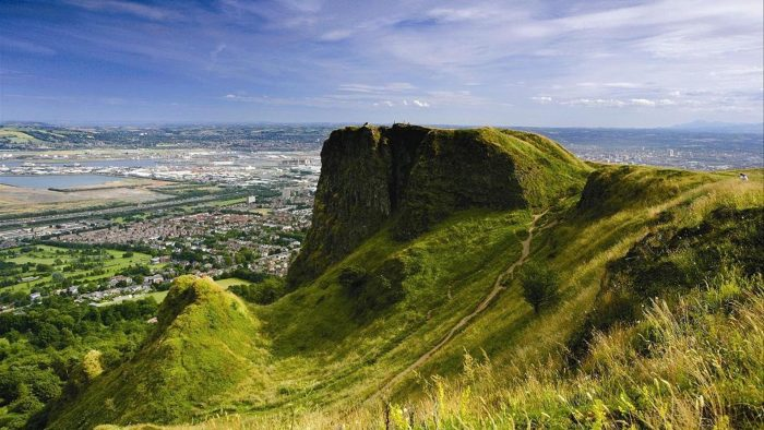Cave Hill offers the best view of Belfast city