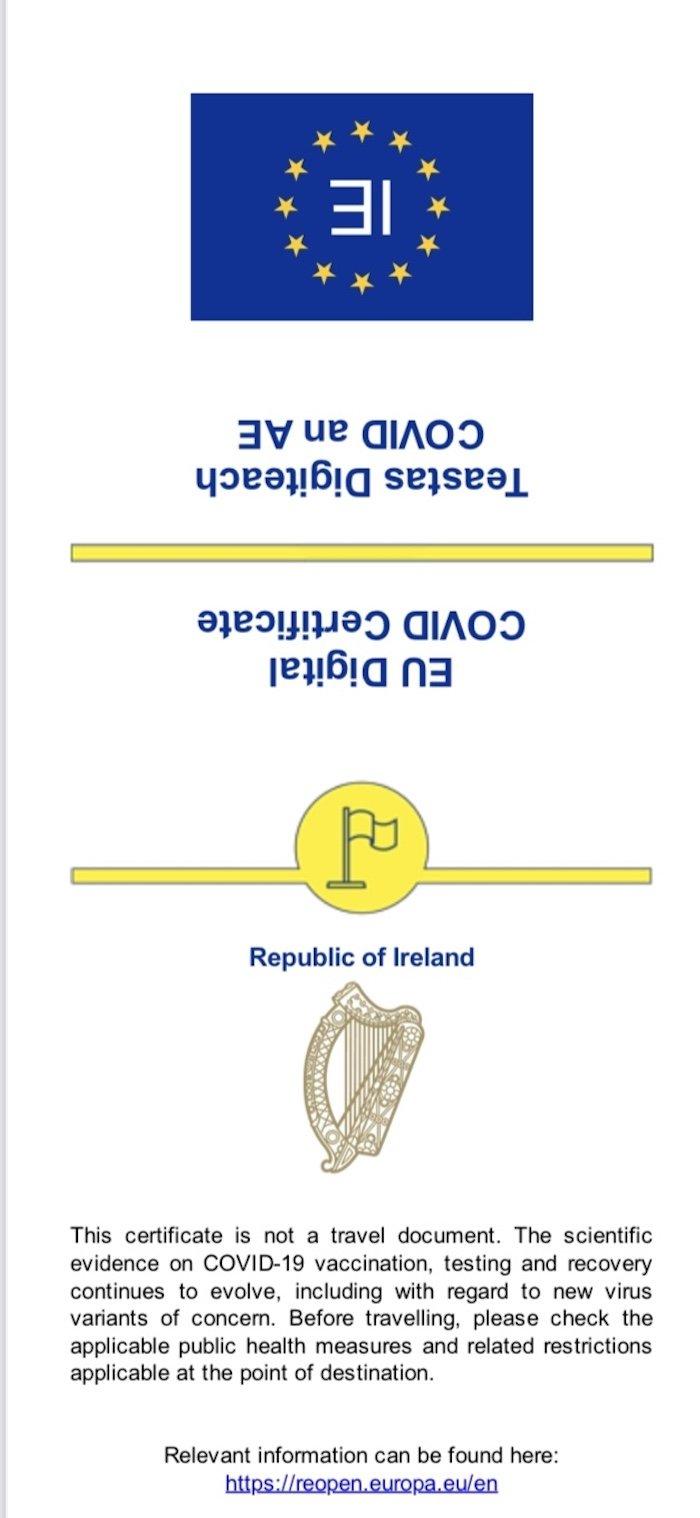 Digital Covid Certificate