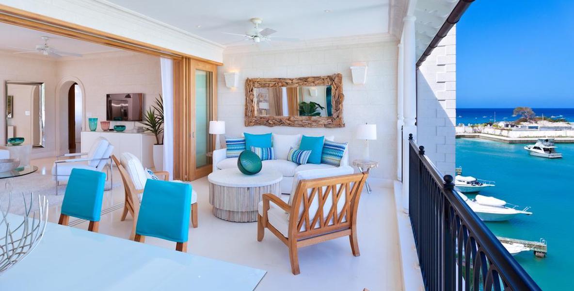 interior of Barbados villas at Port Ferdinand Marina