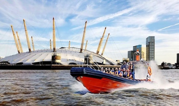 Tigers speed boat attraction on the Thames, London