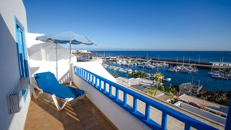 view of puerto del carmen harbour from Agua marina apartments
