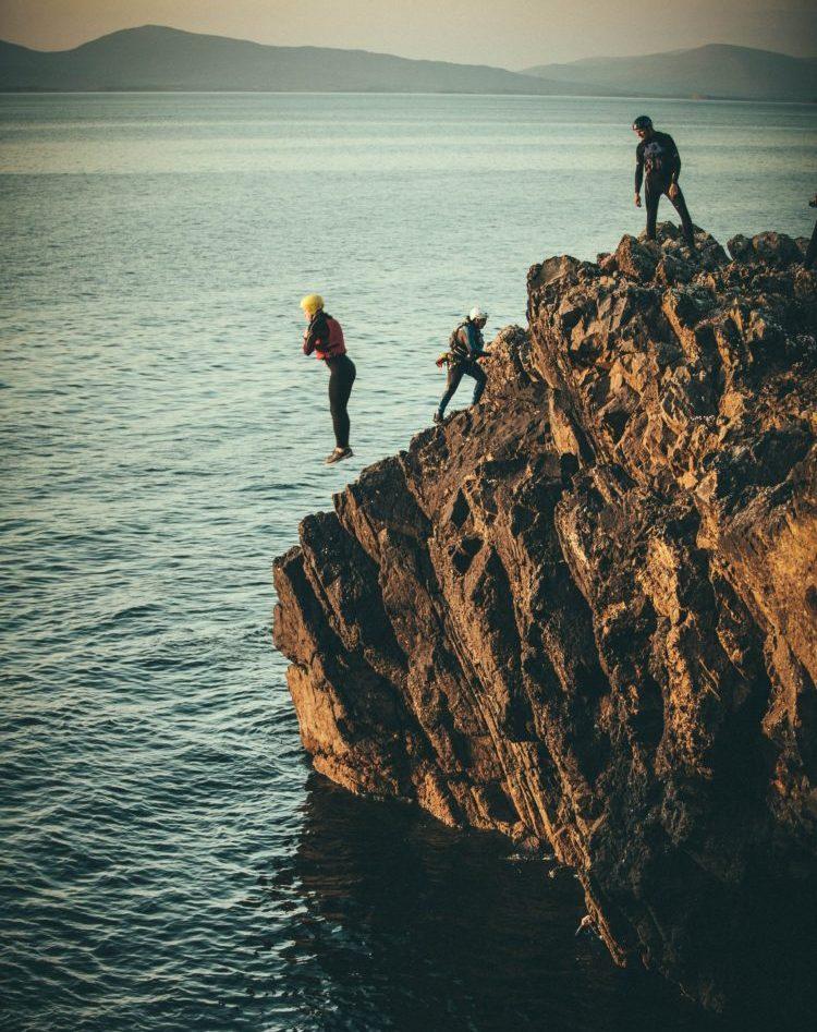 Coasteering with teenagers