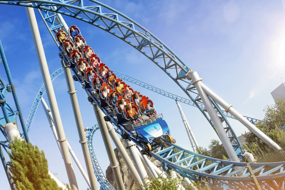 rollercoaster at Europa Park.