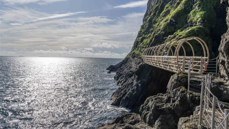 Gobbins Cliff Path Walk is one of the top things to do in Ireland with teenagers