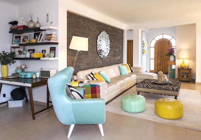 Interior of family villa on the Algarve