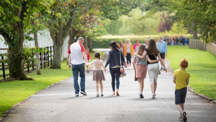 family outdoors activity
