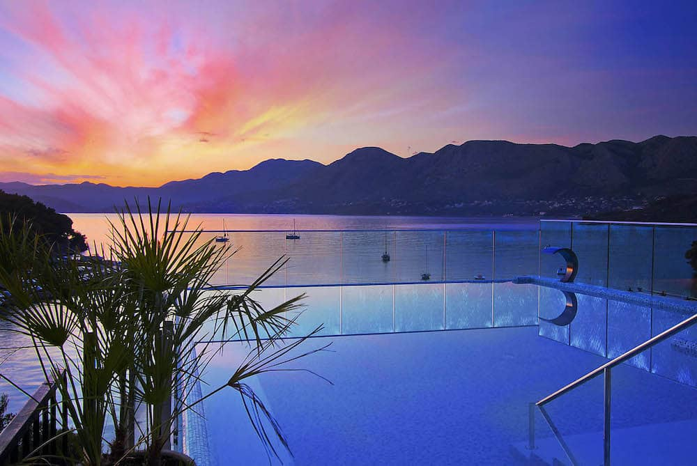 sunset views from Hotel Cavtat, Croatia