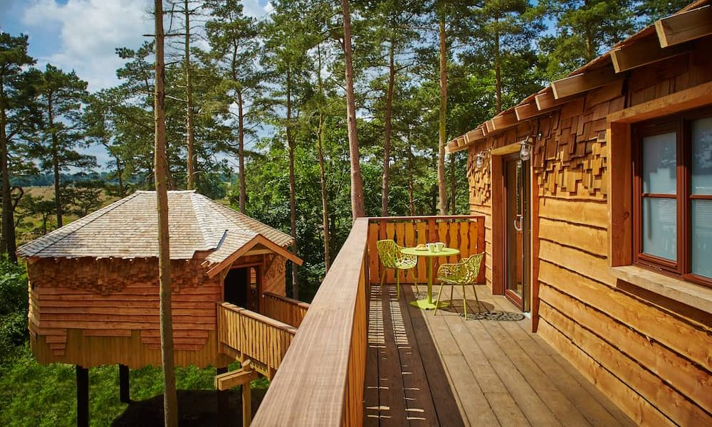 Luxury treehouses at center parcs longford forest