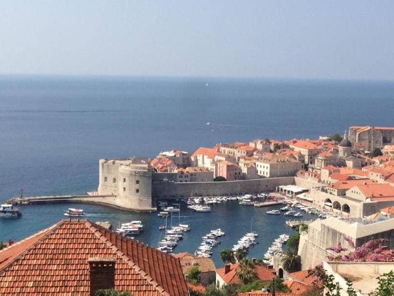 views of Dubrovnik from Villa Juliet