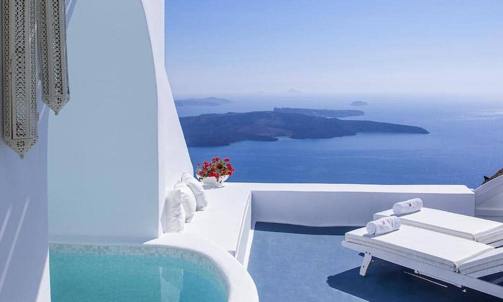a cave stay in Santorini is on every Europe bucket list