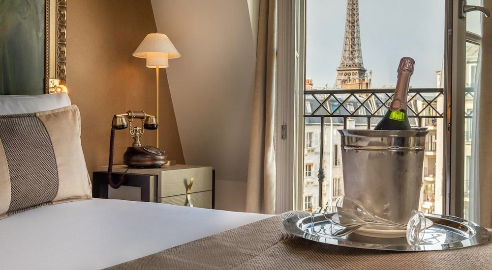 Eiffel Tower Room at Le Walt Hotel, Paris