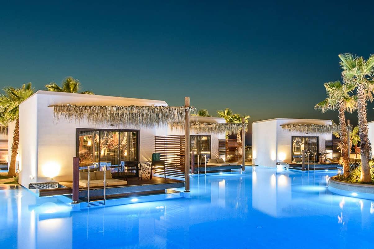 overwater bungalows in Crete