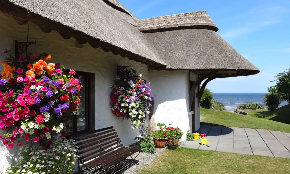 cottages beside the beach in Ireland