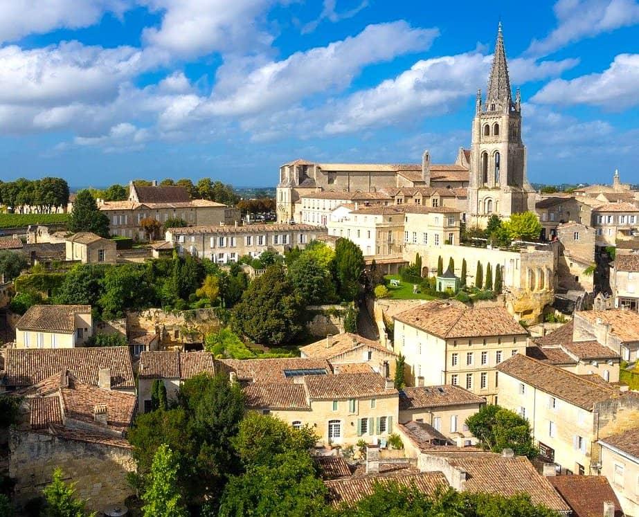 Saint-Emilion close to Bordeaux in France