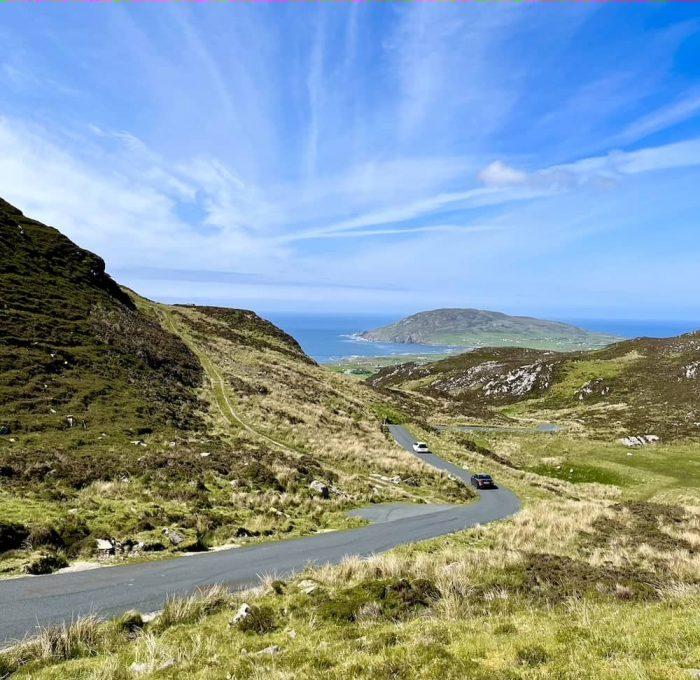 Drive through Mamore Gap on the Inishowen Peninsula