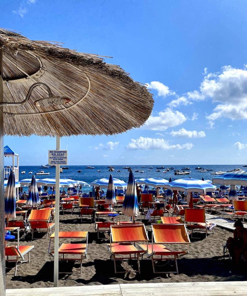 beach in Positano, Amalfi Coast