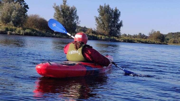 kayaking on the River Slaney, Wexford