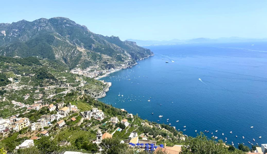 Views of the Bay of Naples from Ravello
