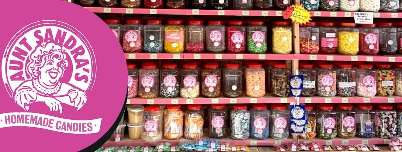Visit Aunt Sandra's sweet shop in Belfast