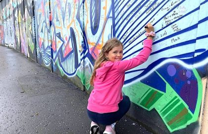 Child at Peace Wall, Belfast