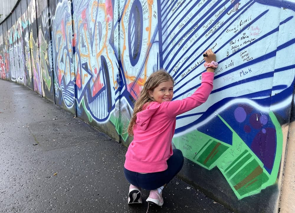 Child at the Peace Wall, Belfast