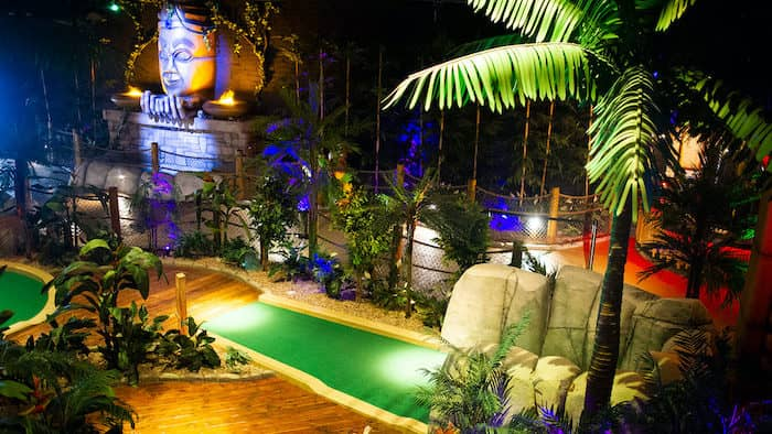 Indoor adventure golf, things to do with kids on a rainy day in Belfast