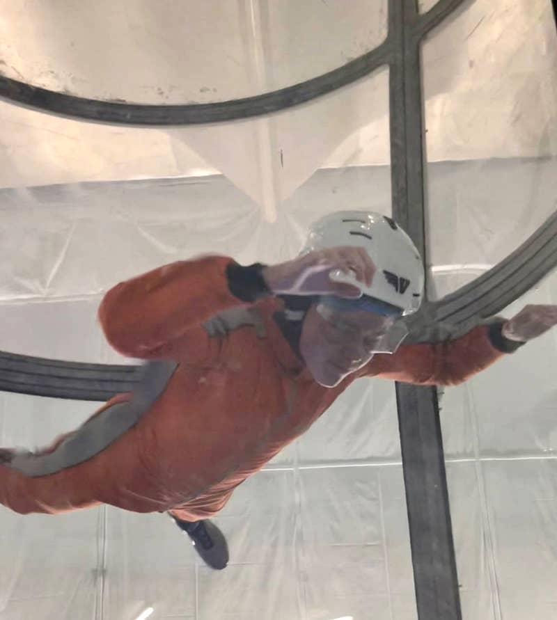 child skydiving in We are Vertigo, Belfast