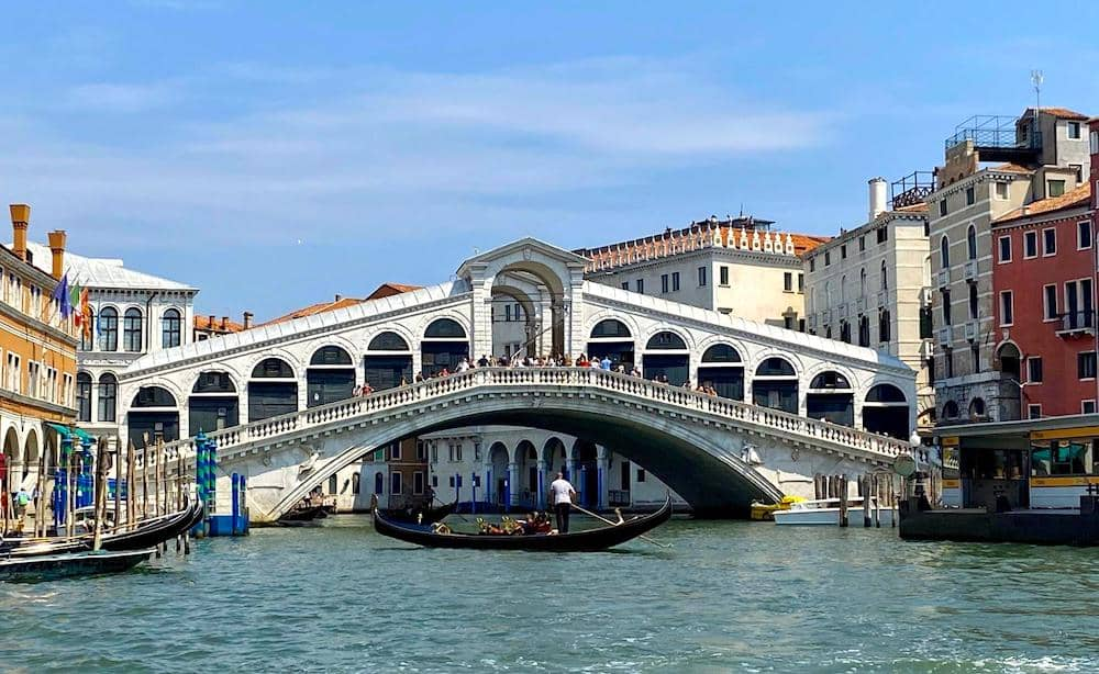 Rialto Bridge is one of the top attractions in Venice