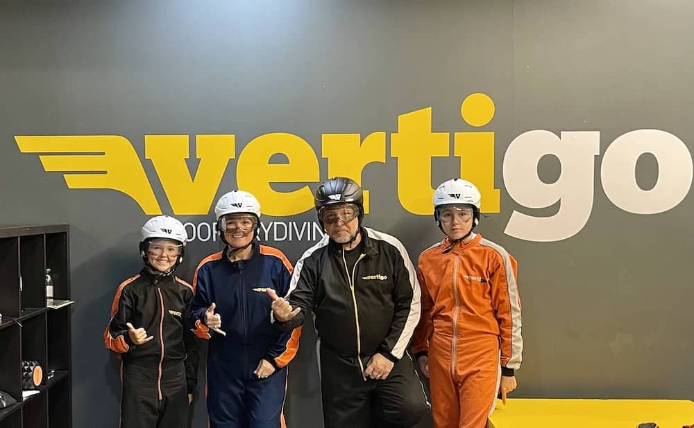 Skydiving in Belfast with kids