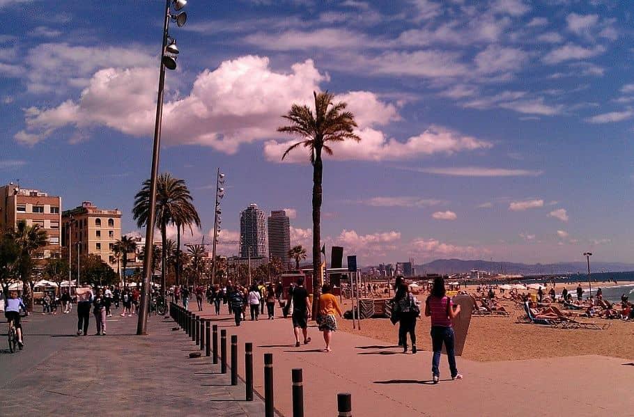 La Barceloneta, Barcelona beach