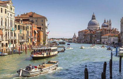Vaporetto on the Grand Canal, Venice