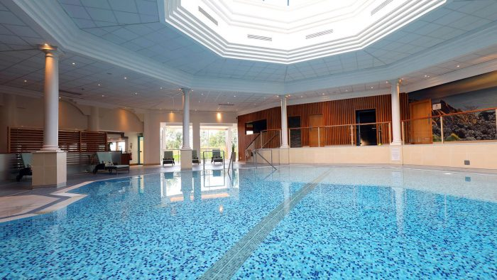 swimming pool at the Culloden Estate & Spa Hotel