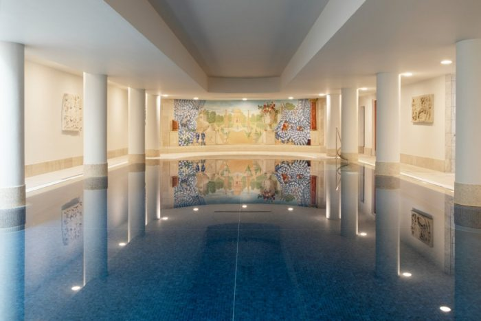 swimming pool at the Merrion Hotel